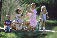 Kids Fishing with Mom